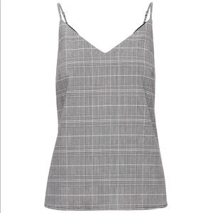 Banana Republic Plaid Grey Tank